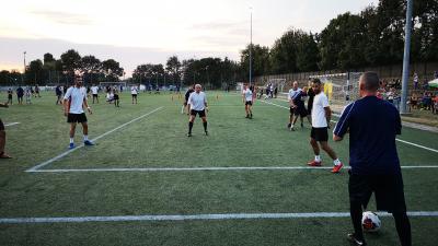 Ismét több százan rúgták a bőrt a Futball Éjszakája békéscsabai állomásán. Fotó: Papp Ádám