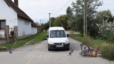 Békéscsabán, a Táncsics utca és a Kertész utca kereszteződésében történt a baleset (fotó: police.hu)