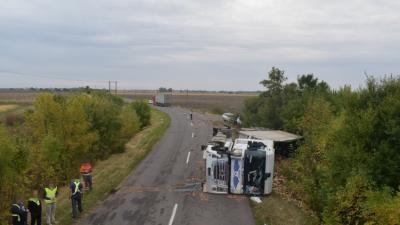 Baleset Gyomaendrődnél 2019.09.23.-én. Fotó: Police.hu