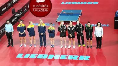 A magyar női asztalitenisz válogatott. Fotó: Nemzeti Sport Online