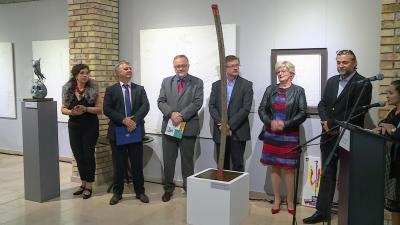 Megnyílt a Szünidei üdvözlet című kiállítás a Munkácsy múzeumban. Fotó: 7.TV/M.Cs.