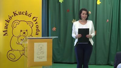Botta-Dukátné Orczifalvi Éva intézményvezető az átadó ünnepségen (Fotó: Kugyelka Attila)