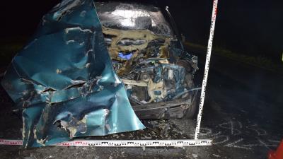 Halálos baleset történt Békéscsaba és Kétsoprony között 2019.10.05-én. Fotó: police.hu