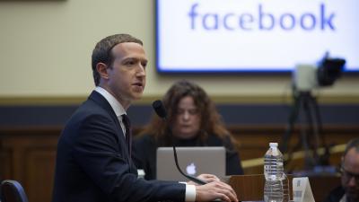 Mark Zuckerberg a képviselőházi meghallgatáson.Forrás: Picture-Alliance/AFP/usage wordwide/Stafani Reynolds