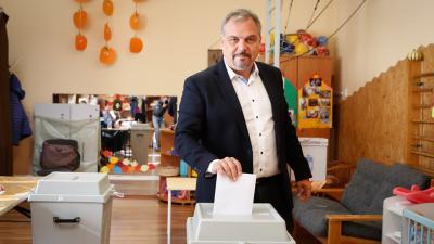 Zalai Mihály Orosházán szavazott