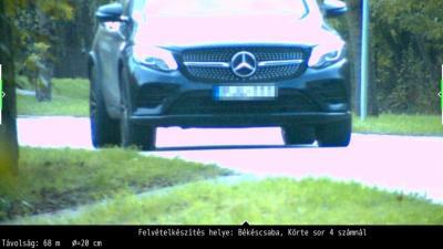 Gyorshajtót fényképezett a traffipax Békéscsabán. Fotó: police.hu