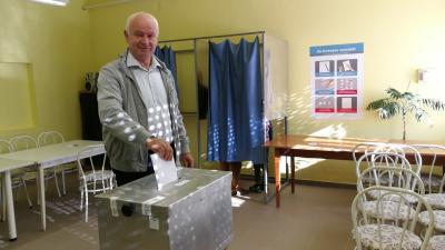 Herczeg Tamás már szavazott (fotó: Sipos Gábor)