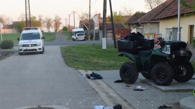 Quad-baleset Orosházán, 2019 áprilisában. Fotó: police.hu