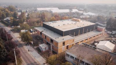 Novemberi drónfelvétel, a Békéscsabai Röplabda Akadémiáról. Fotó: BRSE facebook