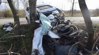 Szarvason történt baleset 2019.11.17.-én. Fotó: police.hu