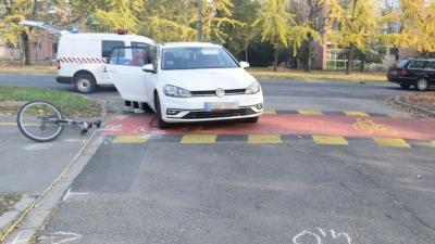 Kerékpáros baleset. Fotó: police.hu