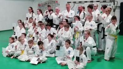Taekwondo övvizsga Magyarbánhegyesen. Fotó: Békés Megyei Harcművész Szövetség