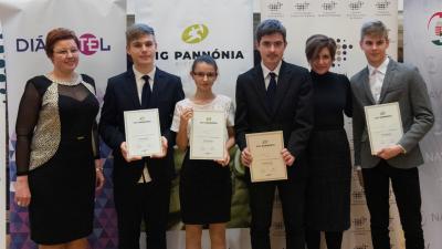 Az Andrássy gimnázium különdíjas csapata