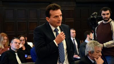Dr. Szigeti Béla a közgyűlésen (fotó: Such Tamás)