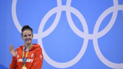 Hosszú Katinka lett ismét a legjobb. FORRÁS: AFP/GABRIEL BOUYS