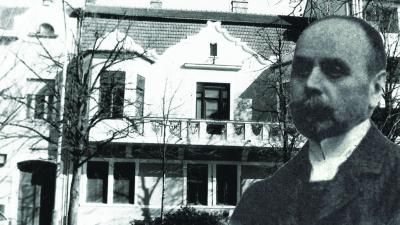Az egykori Fábry családi ház és Fábry Károly képe