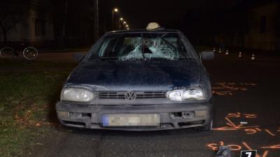 Baleset 2020.01.22.-én. Fotó: police.hu