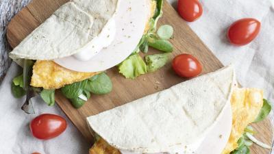 Pulykasonkás-omlettes tortilla Fotó forrás: Gallicoop