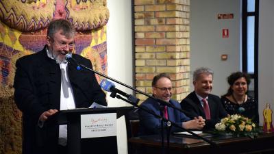 Jobbról: Ando György, Fekete Péter, Szarvas Péter és Gyarmati Gabriella – (Fotó: Such Tamás)