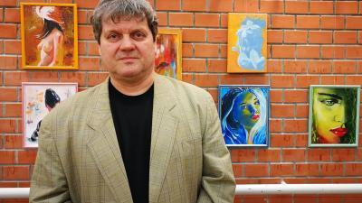Bartik János munkáiból nyílt kiállítás 2020.02.14.-én. Fotó: behir.hu/Szilágyi Viktória