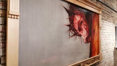 A kiállítás központi alkotása – (Fotó: behir.hu)