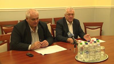 Hanó Miklós és dr. Ferenczi Attila értékelte a februári közgyűlés döntéseit. Fotó: Kugyelka Attila