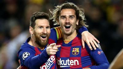 Lionel Messi (b) és Antoine Griezmann – (Fotó: Getty Images)