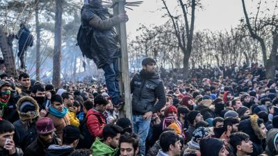 A koronavírus új veszélyt jelent az illegális bevándorlók között – (Fotó: AFP/Bulent Kilic)