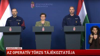 Az operatív törzs keddi tájékoztatója Fotó: MTVA