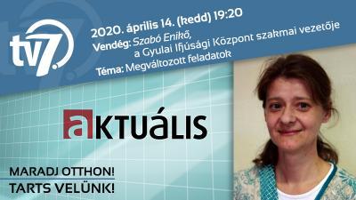 Szabó Enikő a 7.TV Aktuális című műsorában
