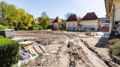 Fejlesztések Békés belvárosában. Fotó: Gapix Fotó