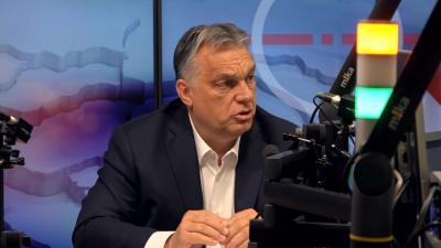 Orbán Viktor miniszterelnök a Kossuth Rádióban (Fotó: Kossuth Rádió)