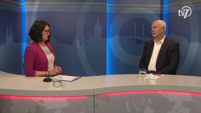 Herczeg Tamás országgyűlési képviselő a 7.TV Aktuális című műsorában 2020.04.03.-án. Fotó: 7.TV