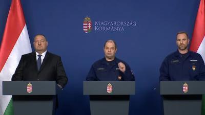 Az operítav törzs szombati sajtótájékoztatója Fotó forrás: MTVA