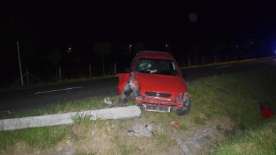 A füzesgyarmati baleset – (Fotó: police.hu)