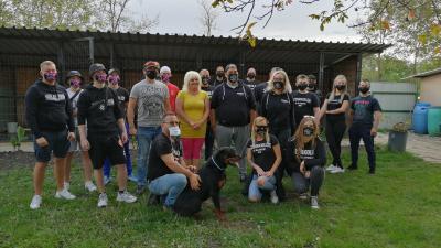 Ország több pontjáról érkeztek állatvédők a Nándy Állatotthonba – (Fotó: Hidvégi Dávid)