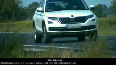 Összesen 133 gyorshajtót mértek be Békéscsabán és környékén. Forrás: police.hu