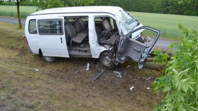 Sarkadkeresztúron történt baleset 2020.05.29.-én. Fotó: police.hu