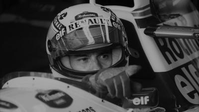 Ayrton Senna a Williams volánja mögött – (Fotó: AFP/Jean Loup Gautreau)