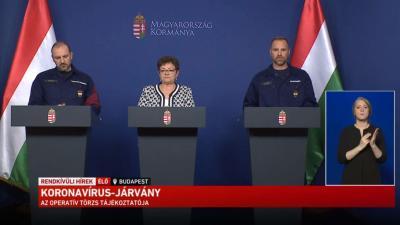 Az operatív törzs sajtótájékoztatója 2020.05.15-én. Forrás: kormany.hu
