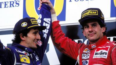 Senna (j) magasba emeli Prost karját – (Fotó: tercerequipo.com)