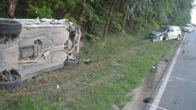 Békéscsaba külterületén három autó ütközött össze szombaton Fotó forrás: police.hu