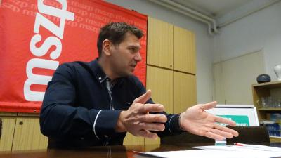 Miklós Attila, az MSZP békéscsabai választókerületi elnöke. Fotó: MSZP