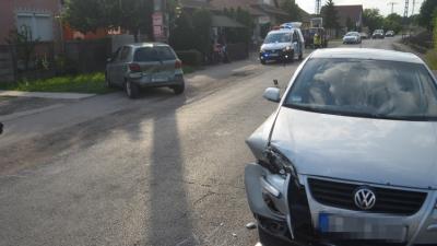 A dobozi baleset – (Fotó: police.hu)