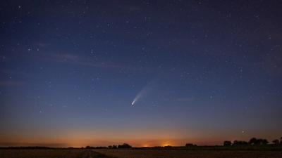A Neowise üstökös Békéstől nem messze. Fotó: behir.hu/Varga Diána