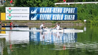 Kammerer Zoltán és Dombvári Bence nyerte az első szolnoki futamot (Fotó: kajakkenusport.hu)