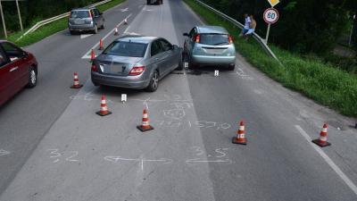 Baleset Szarvason 2020.07.30.-án. Fotó: police.hu