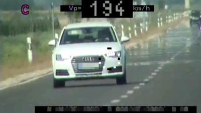 194 km/h sebességgel hajtott egy autós a 47-esen. Forrás: police.hu