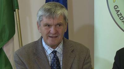 Varga Gusztáv egy fórumon 2019.04.30-án. Fotó: 7.TV