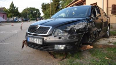 Baleset Dombegyházon 2020.08.02.-én. Fotó: police.hu